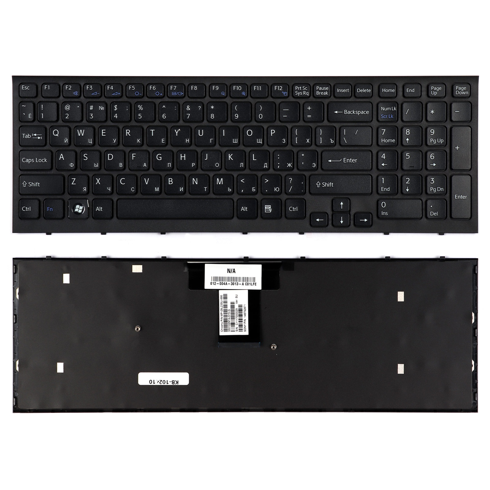 Клавиатура TopOn Sony VPC-EB, PCG-71211 Series. Плоский Enter. С рамкой. PN: 148792871, V111678A, 550102M14-203-G., KB-102410, черный клавиатура 1200 nokia
