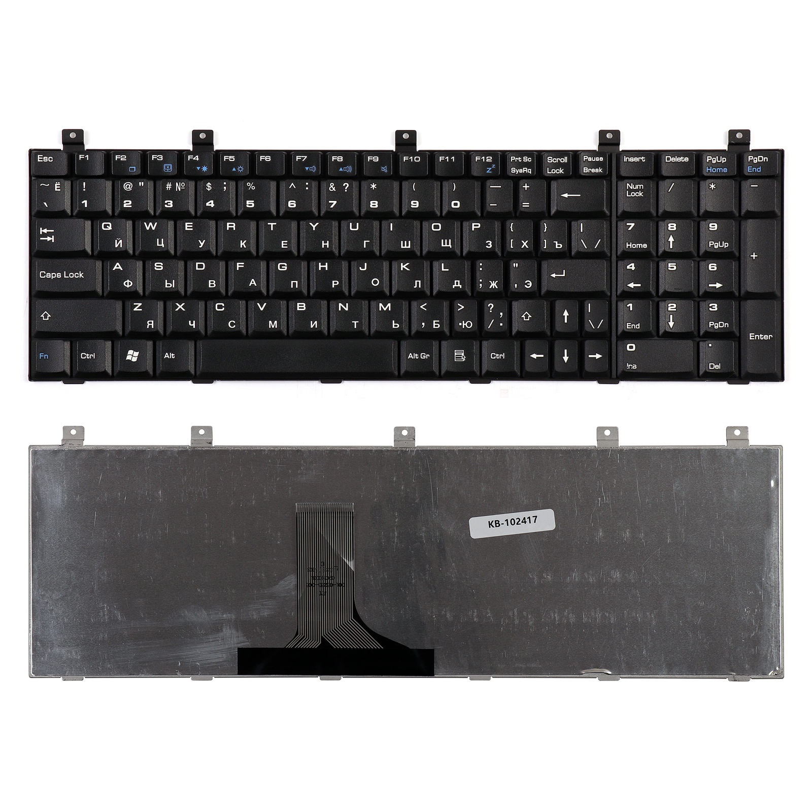 Клавиатура TopOn Toshiba Satellite P100, M60 Series. Плоский Enter. Без рамки. PN: MP-07A56CU-442, AEBD10I7015-RU, AEBD10IU011-US, KB-102417, черный pa3479 replacement high capacity laptop battery of 10 8v 5200mah for toshiba pa3479u pa3479u1bas satellite p100 p105 6cell black