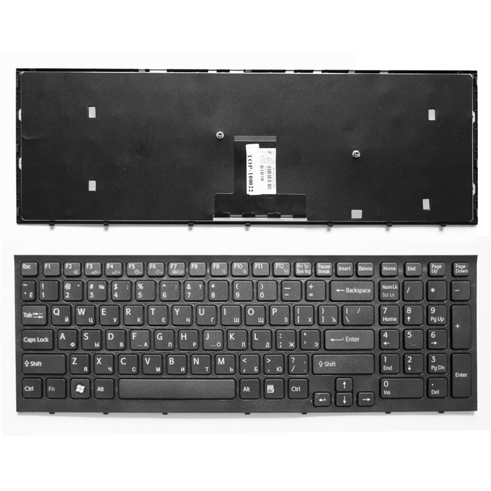 Клавиатура TopOn Sony Vaio VPC-EB Series. Плоский Enter. С черной рамкой. PN: 148792871, V111678A., TOP-100022, черный canizares a g offices designsource