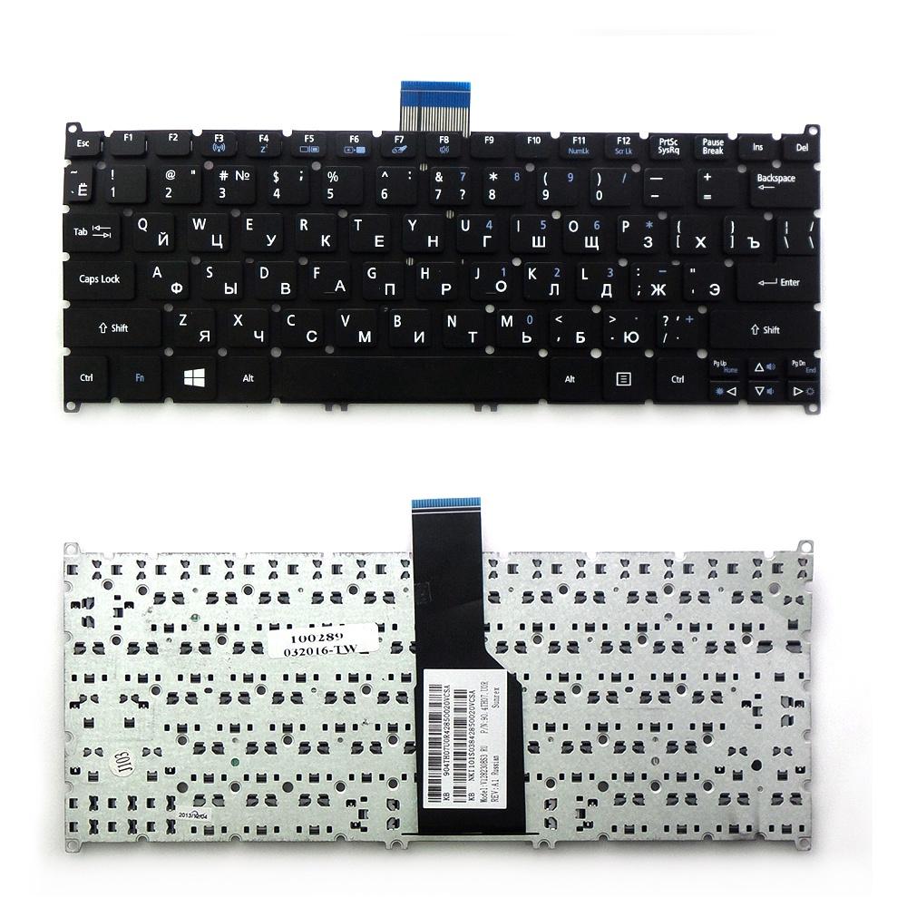Клавиатура TopOn Acer Aspire S3, S5, S3-391, S3-951, S5-391 Series. Г-образный Enter. Без рамки. PN: 9Z.N7WPW.20R, 90.4BT07.A0R., TOP-100289, черный sponeta s3 86e
