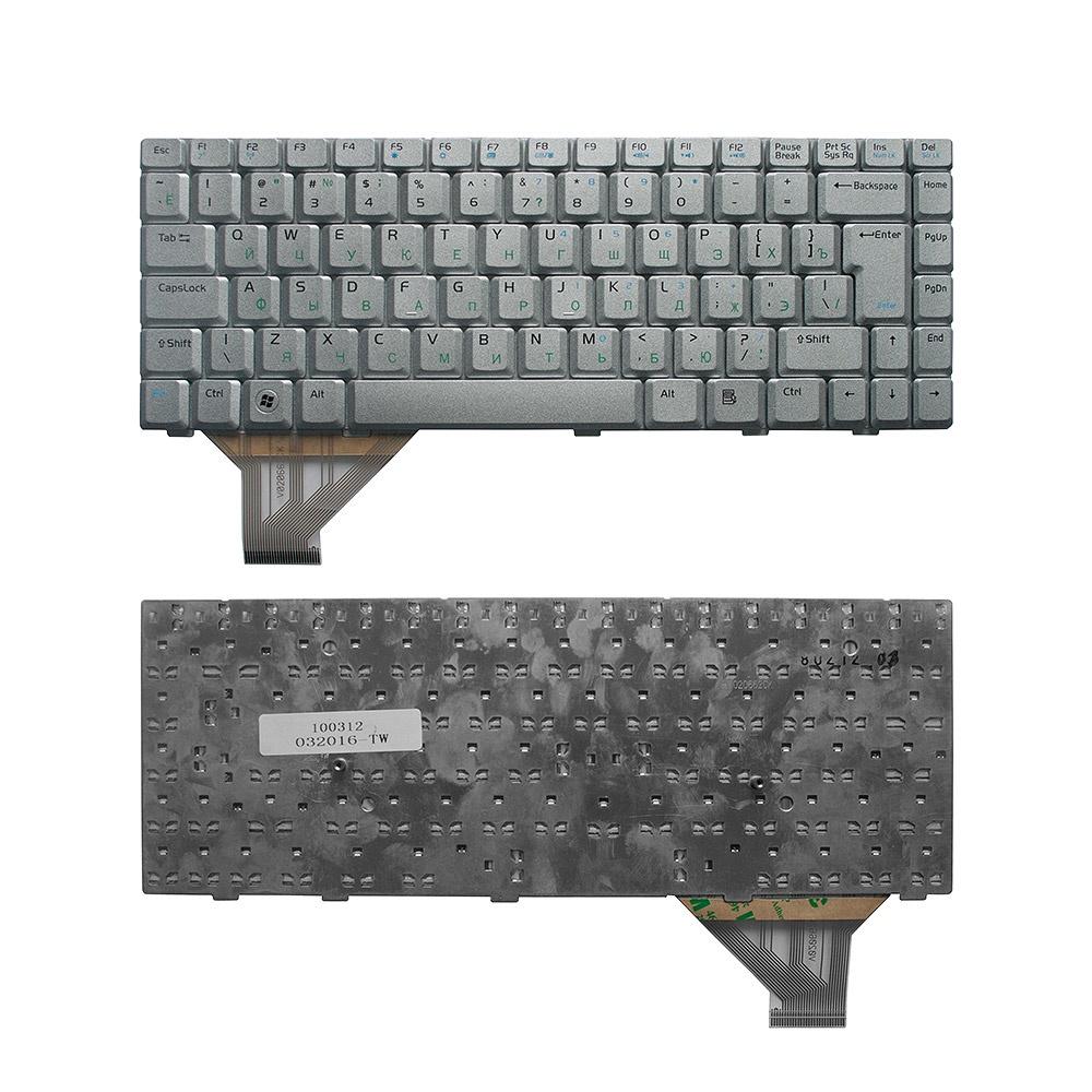 Клавиатура TopOn Asus A8, F8, N80, N81A, W3, Z99 Series. Г-образный Enter. Без рамки. PN: 0KN0-712US01, 04-NAA1KRUS1., TOP-100312, серебристый
