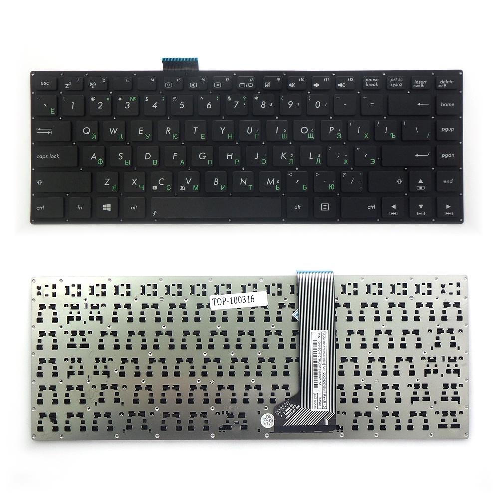 Клавиатура TopOn Asus F402, X402, VivoBook S400 Series. Плоский Enter. Без рамки. PN: MP-12F33US-9201, AEXJ7U00010., TOP-100316, черный клавиатура topon asus t200 t200t t200ta series плоский enter без рамки pn 0knb0 1105ru00 kb 101059 черный
