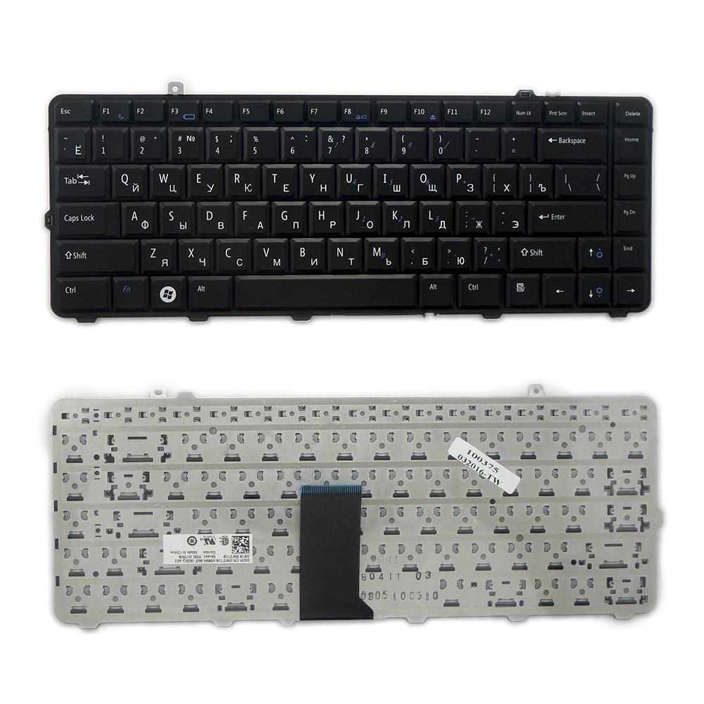 Клавиатура TopOn Dell Studio 1555, 1557, 1558, 1535, 1536, 1537, 1538 Series. Плоский Enter. Без рамки. PN: NSK-DCL0R, 9J.N0H82.L0R., TOP-100375, черный