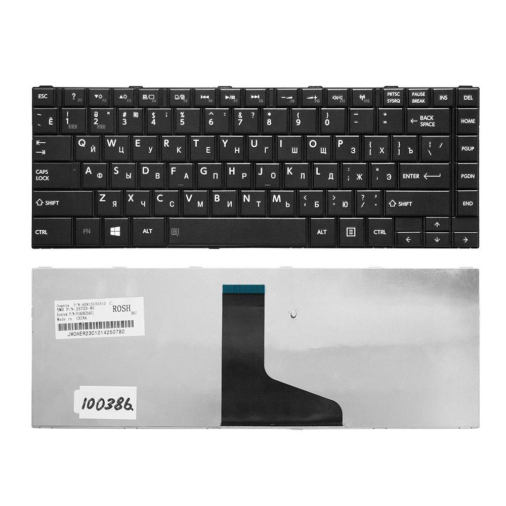 Клавиатура TopOn Toshiba Satellite L800, L830, L805, C800, M800, M805 Series. Плоский Enter. Без рамки. PN: 9Z.N7SSQ.001., TOP-100386, черный
