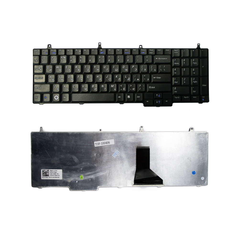 Клавиатура TopOn Dell Vostro 1710, 1720 Series. Плоский Enter. Без рамки. PN: V081702AS, 0T351J., TOP-100406, черный аккумулятор tempo lpb 1400 11 1v 4400mah for dell inspiron 1400 1420 vostro 1400 1420 series