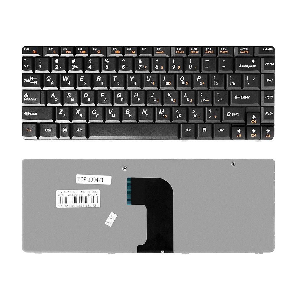 Клавиатура TopOn Lenovo IdeaPad U450, U450A, U450P Series. Плоский Enter. Без рамки. PN: MP-08G73SU-6984, PK130A94A06., TOP-100471, черный laptop fan store ideapad u450 u450a notebook fan
