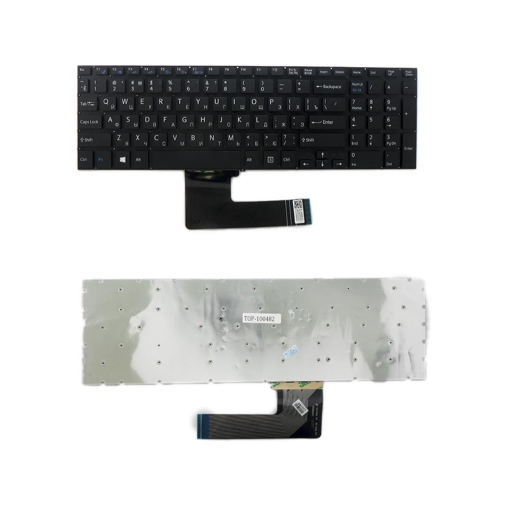 Клавиатура TopOn Sony SVF15, SVF152, FIT 15 Series. Плоский Enter. Без рамки. PN: 9Z.NAEBQ.00R, NSK-SN0BQ., TOP-100482, черный
