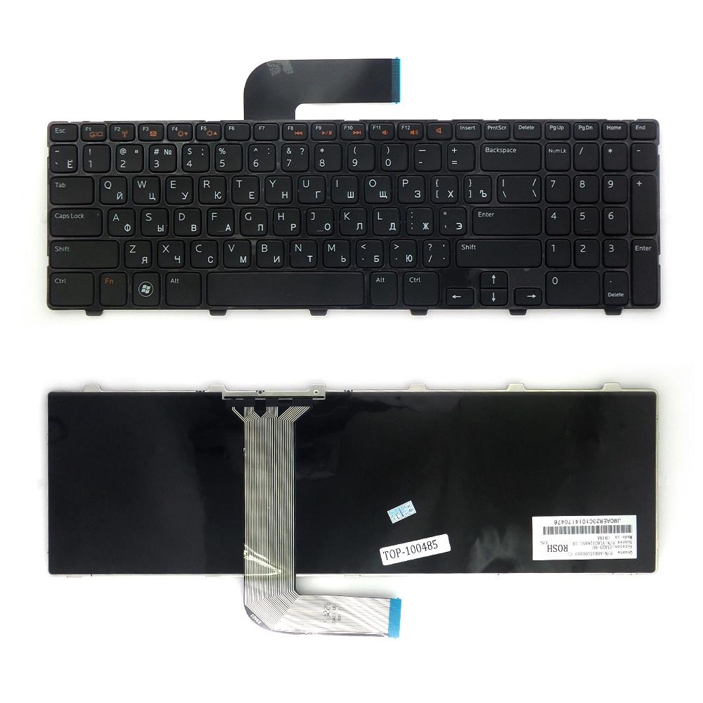 Клавиатура TopOn Dell Inspiron N5110, M5110, M511R, 15R, XPS 17 Series. Плоский Enter. С черной рамкой. PN: NSK-DY0SW, 9Z.N5YSW.00R., TOP-100485, черный laptop palmrest for dell 15r n5110 m5110 with touchpad blue 60 4ie27 003 dp n 0mdm6n mdm6n