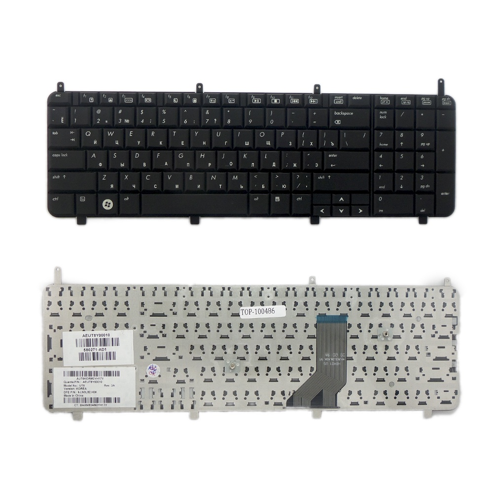 Клавиатура TopOn HP Pavilion DV8, DV8-1000 Series. Плоский Enter. Без рамки. PN: 580271-001, AEUT8U00010., TOP-100486, черный клавиатура topon hp envy 4 1100 4 1200 6 1000 series pn 698679 001 698679 251 kb 102437 черный