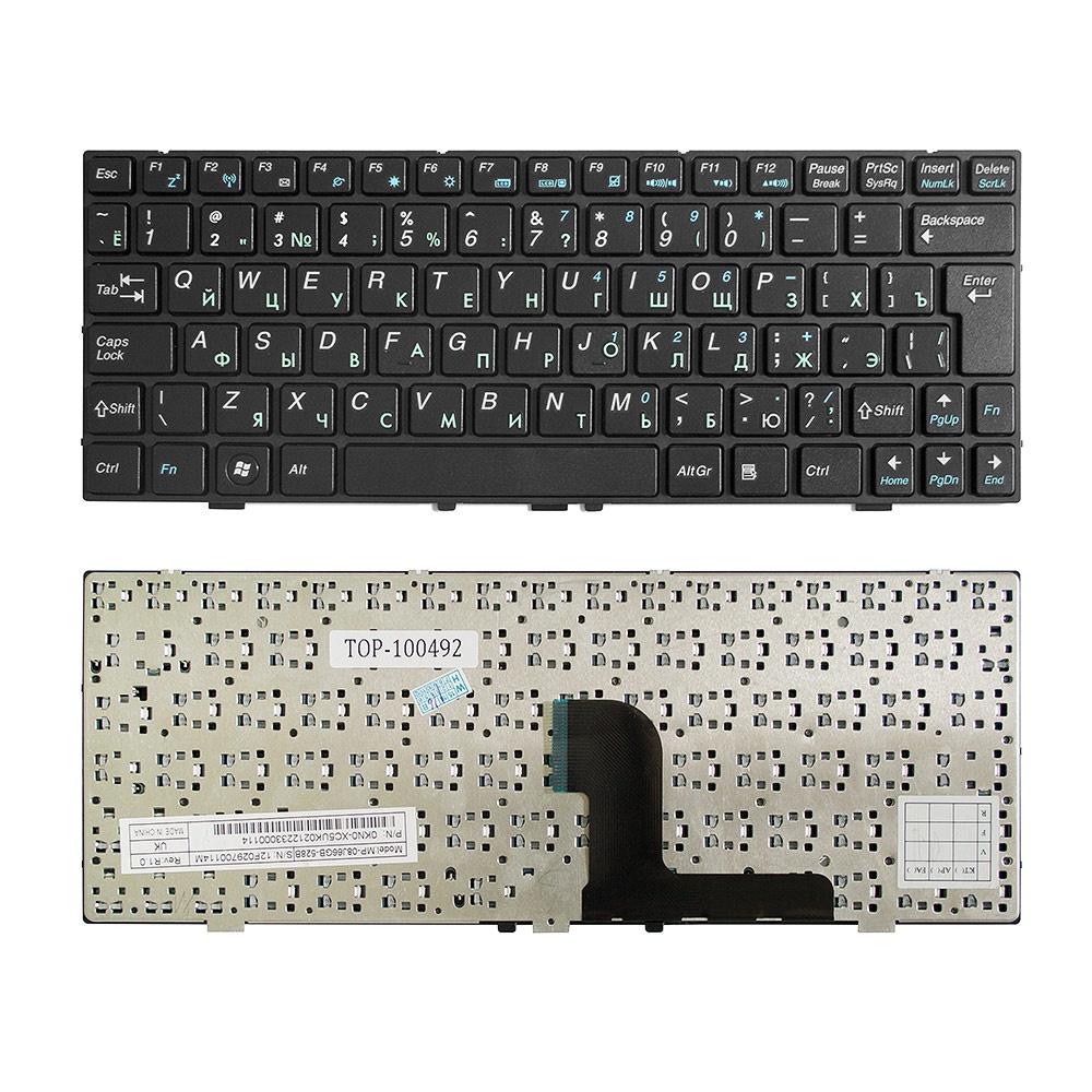 Клавиатура TopOn DNS 0127618, 0129680, 0138569, MEDION E1226, E1228 Series. Г-образный Enter. С черной рамкой. PN: MP-08J63SU-528B., TOP-100492, черный