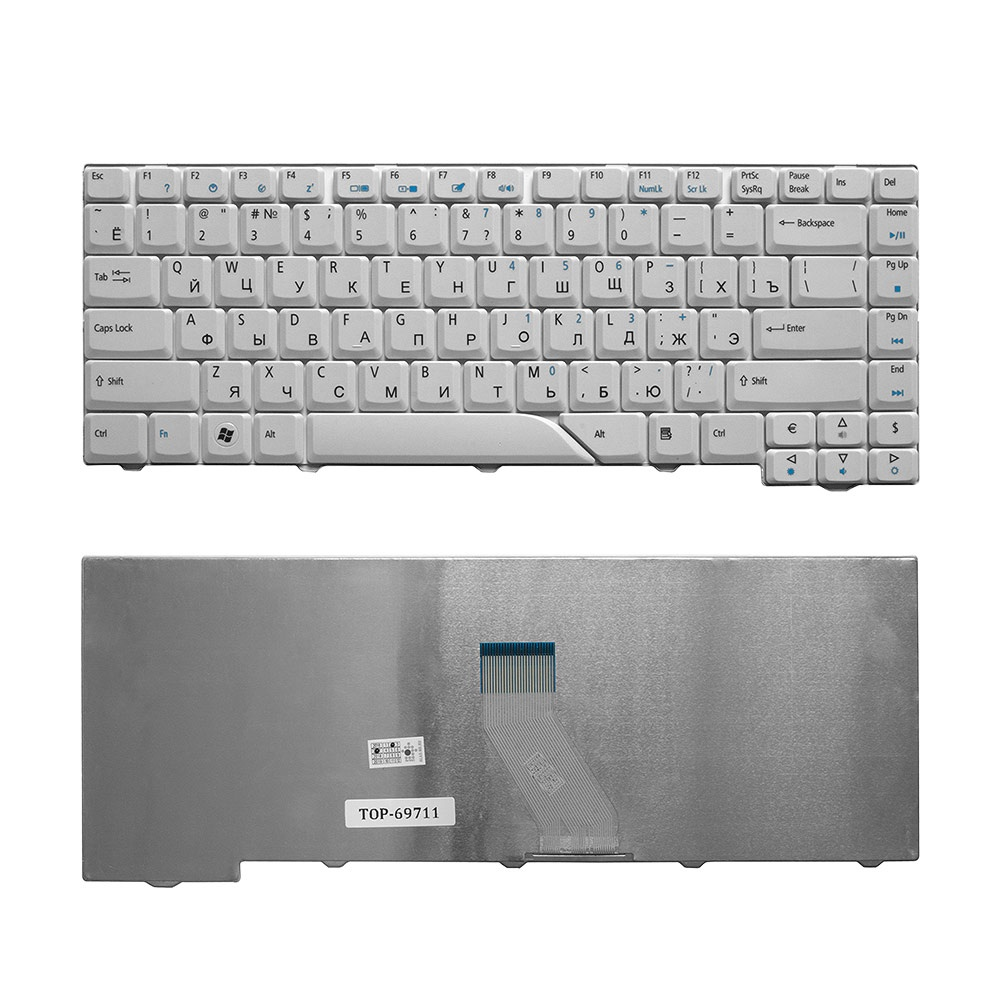 Клавиатура TopOn Acer Aspire 4220, 4230, 4310, 4520, 4710, 4720, 5230, 5300 Series. Плоский Enter. Без рамки. PN: V072146AS1., TOP-69711, черный original new hd 4570m hd4570m 512m 216 0728014 graphic card for acer 4710 4720 4920 5920 display video card gpu replacement