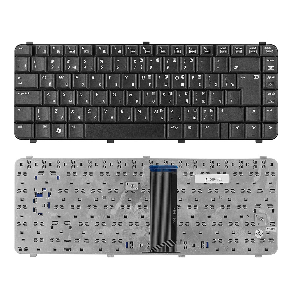 Клавиатура TopOn HP Compaq 511, 515, 516, 610, 615, 6530s, 6531s, 6535s Series. Г-образный Enter. Без рамки. PN: 537583-001, NSK-HFM01, TOP-69743, черный laptop motherboard for hp 686928 001 m6 1000 series la 8713p system mainboard fully tested and working well with cheap shipping