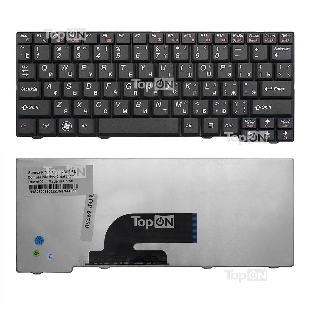 Клавиатура TopOn Lenovo IdeaPad S10-2, S10-3C Series. Плоский Enter. Без рамки. PN: 25-008466, MP-08F53US-686., TOP-69750, черный зеркало aqwella leon mp с панелью и светильником ln mp 02 04 w 40х80 см