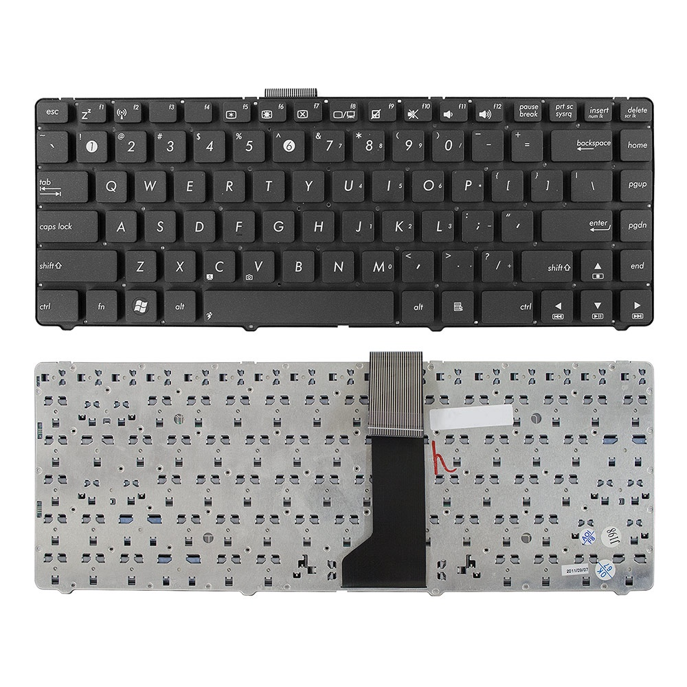 Клавиатура TopOn Asus K46, K46C, K46CA, K46CB, K46Cm, S405C, S46C Series. Плоский Enter. Без рамки. US.PN: 0KNB0-4104RU00, AEKJC700010., TOP-73409, черный