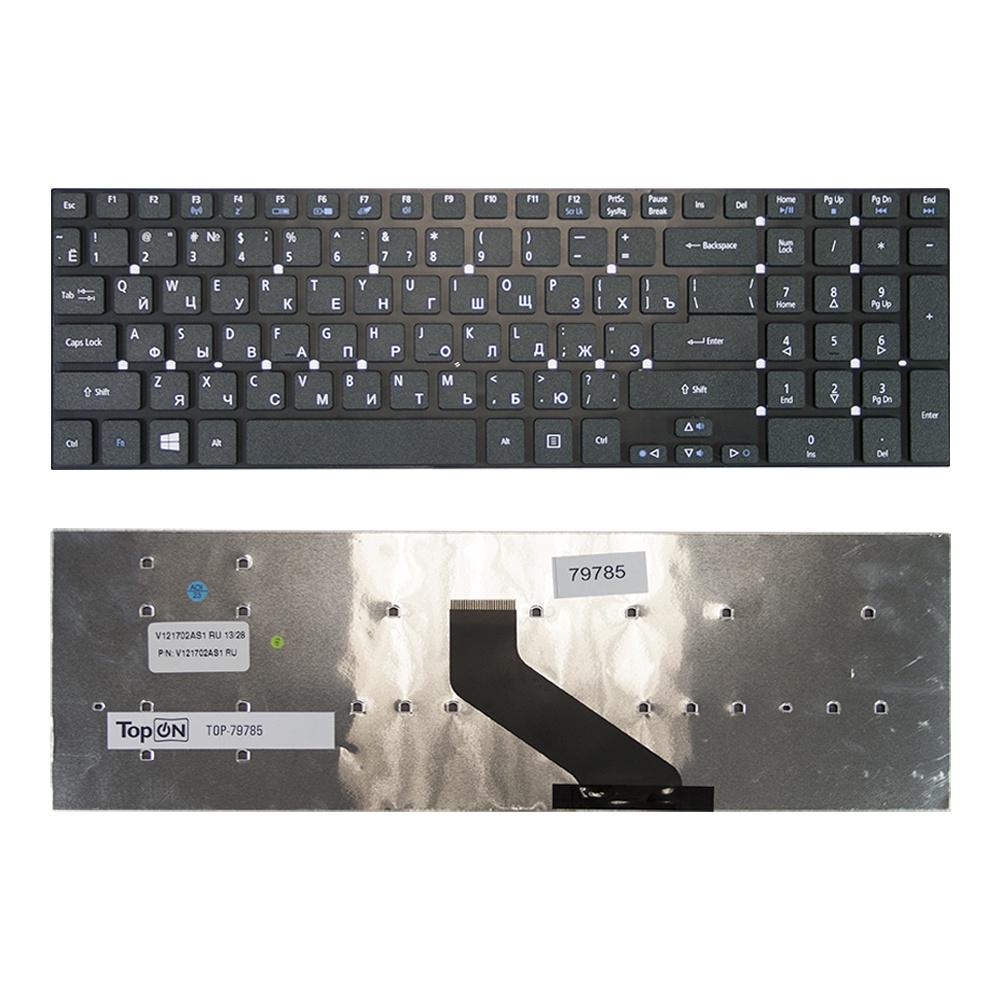 Клавиатура TopOn Acer Aspire 5755, 5755G, 5830, 5830G, 5830T, V3-551, V3-771 Series. Г-образный Enter. Без рамки. PN: MP-10K33SU-698., TOP-79785, черный nokotion laptop motherboard for acer aspire v3 771 e1 731 e1 771 v3 731 va70 vg70 main board nbmg711001 nb mg711 001 ddr3