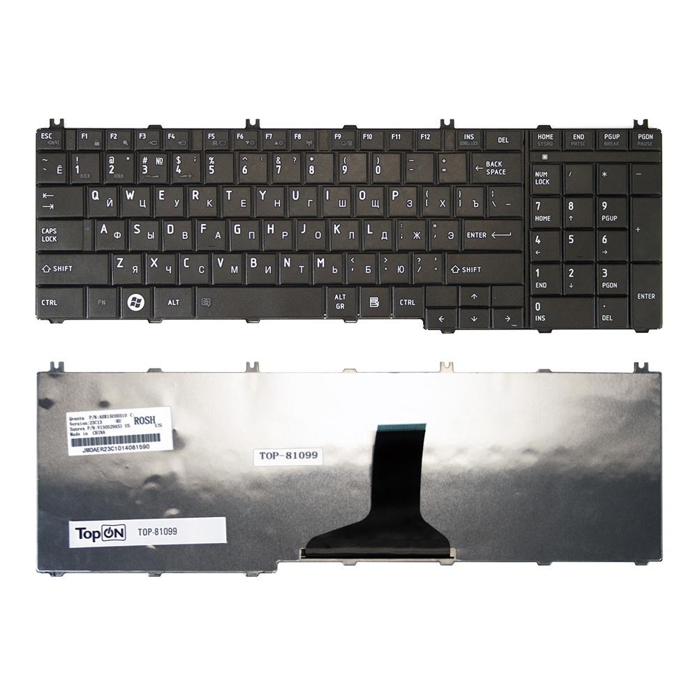 Клавиатура TopOn Toshiba Satellite C650, C655, C655D, C660, L650, L655, L670, L675 Series. Плоский Enter. Без рамки. PN: NSK-TN0GQ., TOP-81099, черный плеер ru mp