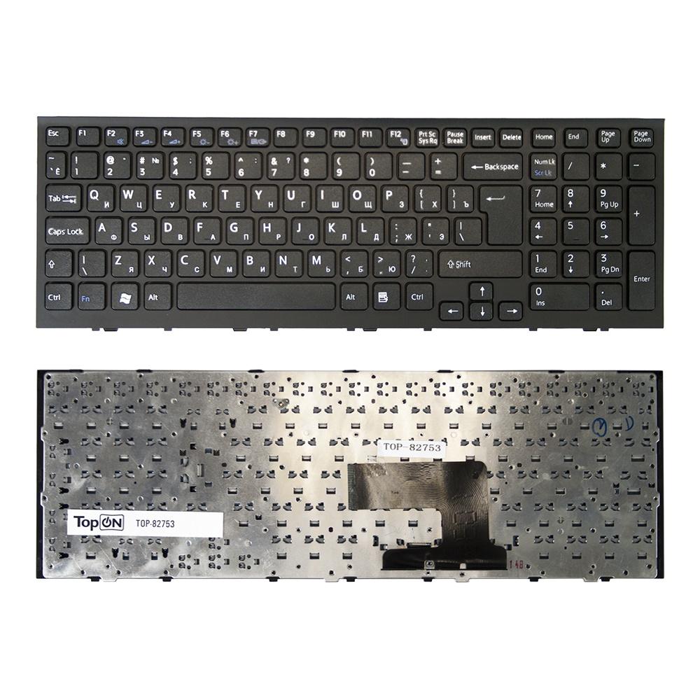 купить Клавиатура TopOn Sony Vaio VPC-EE, VPCEE Series. Г-образный Enter. С черной рамкой. PN: AENE7700010, 148915581., TOP-82753, черный по цене 1550 рублей