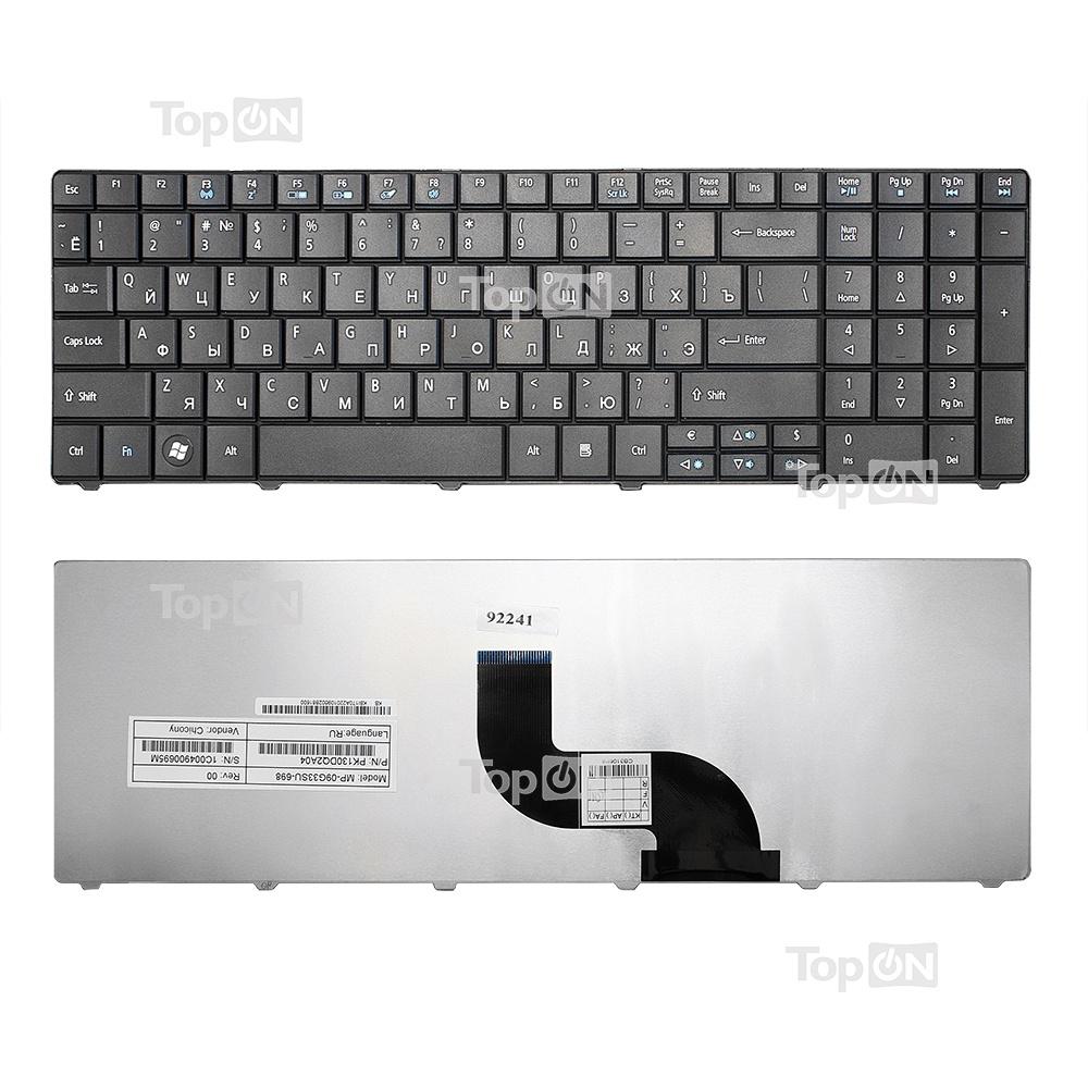 Клавиатура TopOn Acer Aspire E1-521, E1-531, E1-571, TravelMate 5335, 5542 Series. Плоский Enter. Без рамки. PN: NSK-AUQ0R., TOP-92241, черный nsk повседневные брюки