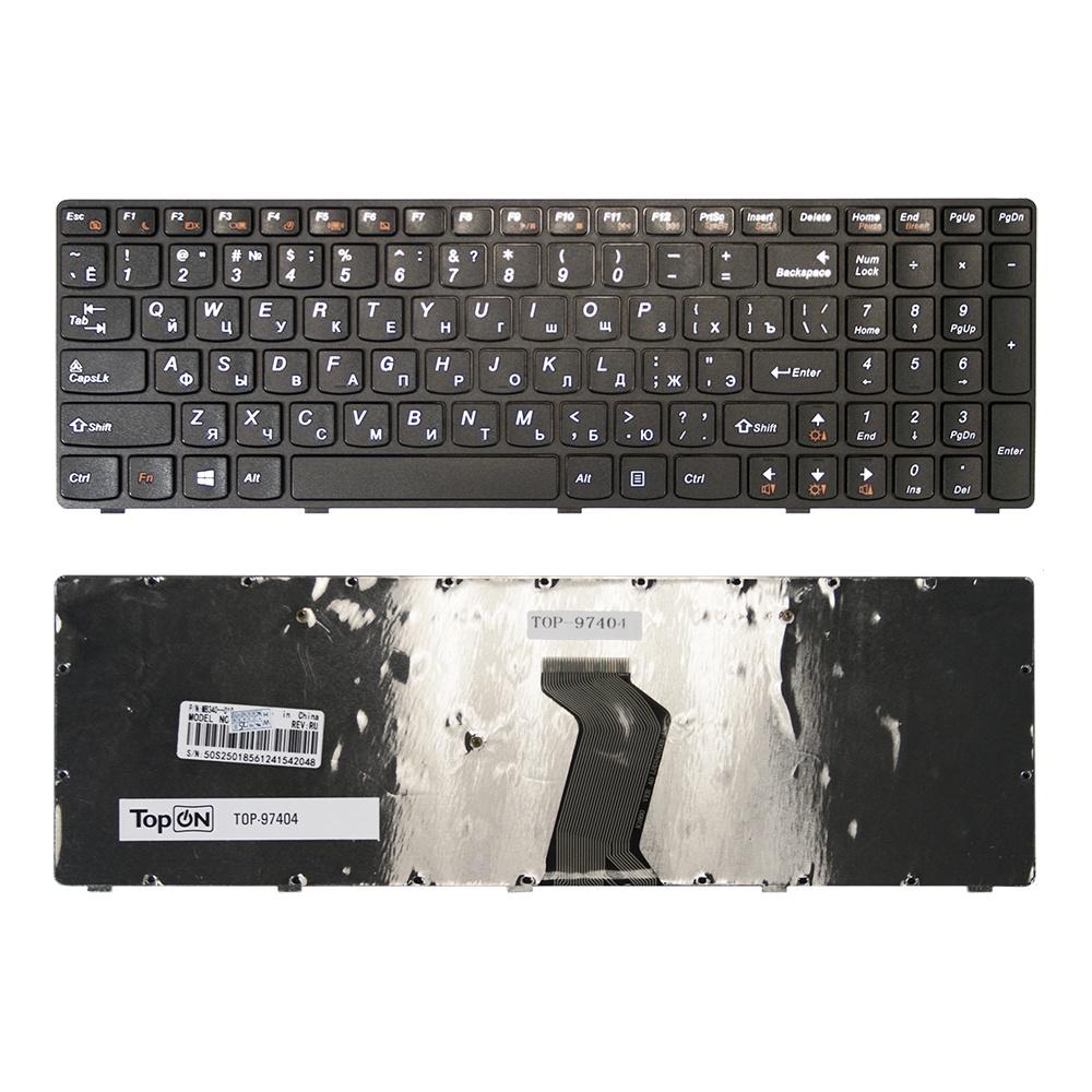 Клавиатура TopOn Lenovo G500, G505, G510, G700, G710 Series. Плоский Enter. С черной рамкой. PN: MP-12P83SU-686, NSK-B70SC 0R., TOP-97404, черный free shipping new lower plastic housing for lenovo ideapad g500 g505 g510 bottom base cover case ap0y0000700