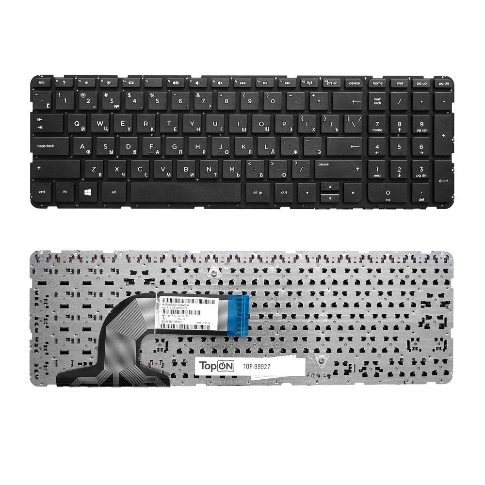Клавиатура TopOn HP Pavilion 15-e, 15-g, 15-n, 15-r, 15t-e, 15t-n, 15z-e, 15z-n Series. Плоский Enter. Без рамки. PN: 9Z.N9HSC.601., TOP-99927, черный цена 2017