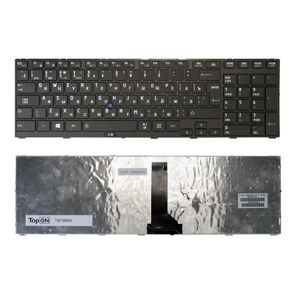Клавиатура TopOn Toshiba Tecra R850, Satellite Pro R850 Series. Г-образный Enter. С черной рамкой. PN: MP-10K96SU6356., TOP-99940, черный адаптер питания topon 90w 15v 6a для toshiba satellite a100 tecra qosmio pa2521 6 3x3 0мм top ts04