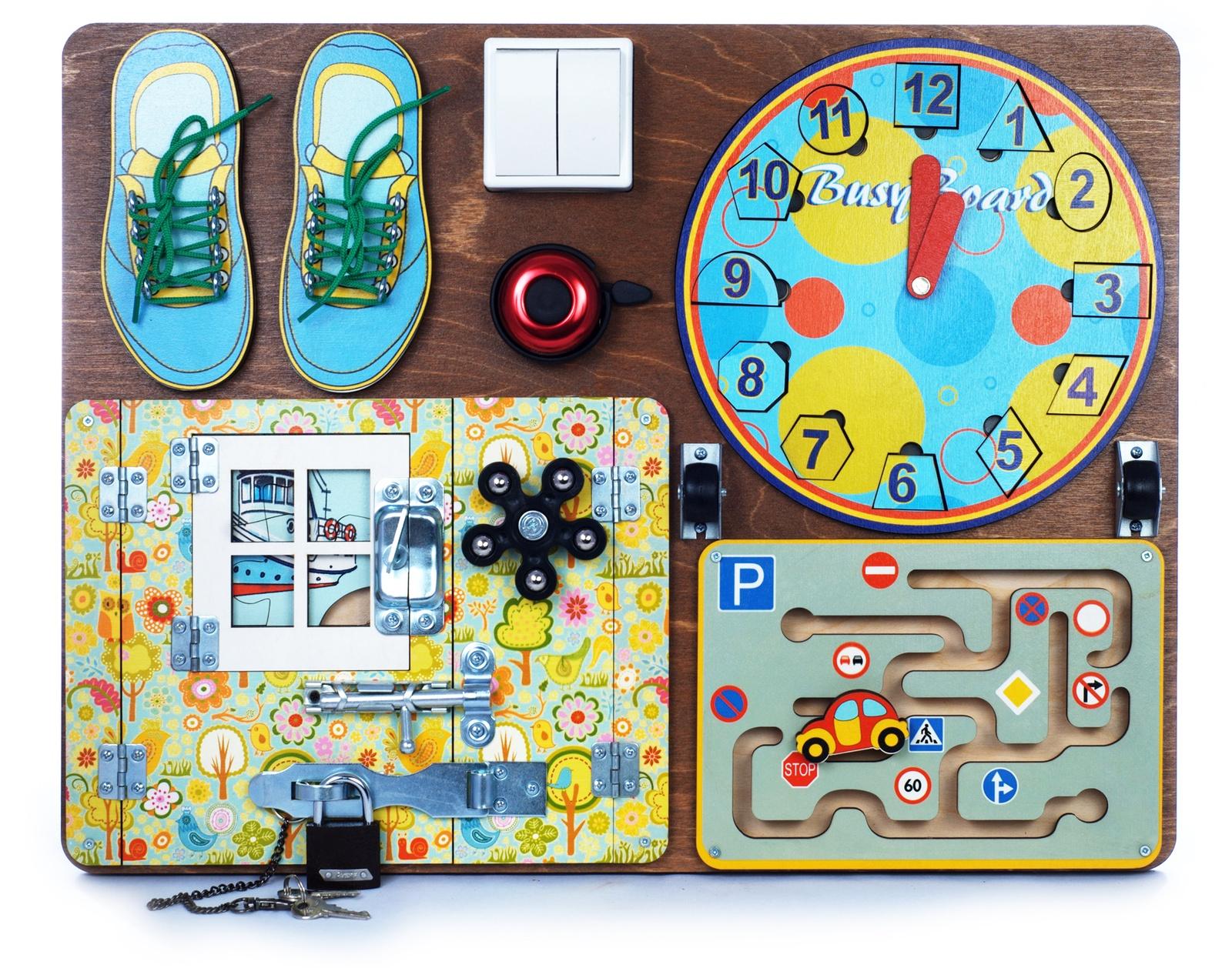 Бизиборд Нескучные игры BusyBoard. Развивающая доска №1, 7902