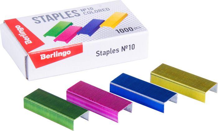 Скобы для степлера Berlingo №10, SH705, разноцветный, 1000 шт скобы sturm 1071 03 10