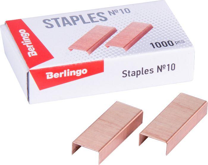 Скобы для степлера Berlingo №10, SH605, медный, 1000 шт скобы sturm 1071 03 10