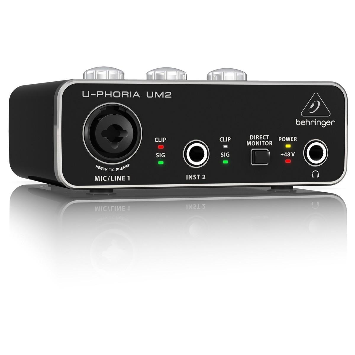 Аудиоинтерфейс Behringer UM2, UM2 аудиоинтерфейс behringer u phoria um2