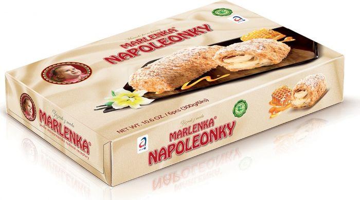 Пирожное Marlenka Наполеонки, 300 г торт marlenka медовый с какао 100 г
