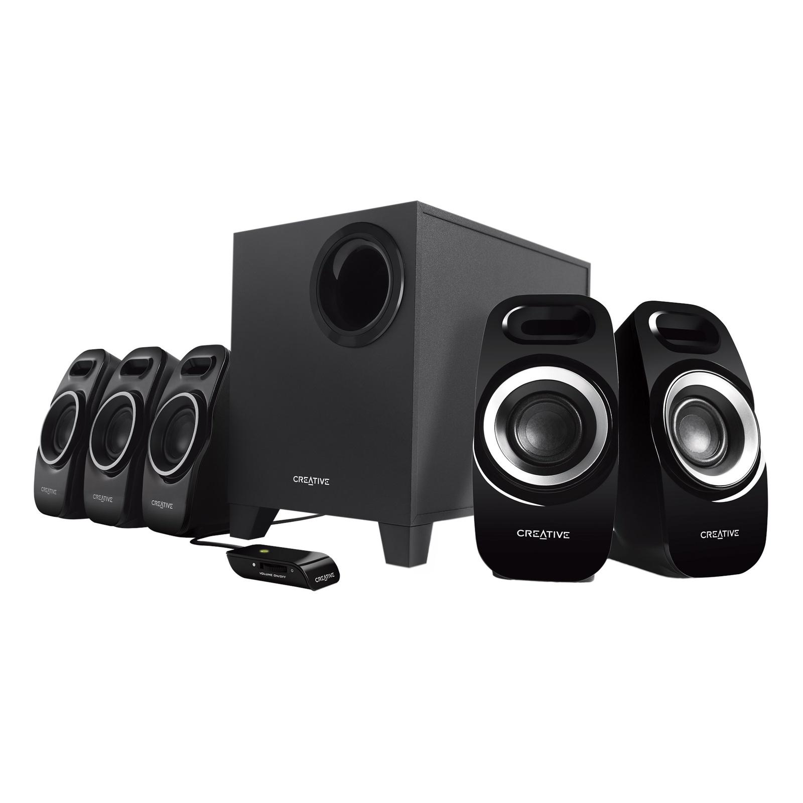 Акустическая система Creative INSPIRE T6300 5.1, Black, 51MF4115AA000, черный акустическая система creative inspire t6300 5 1 black 51mf4115aa000 черный