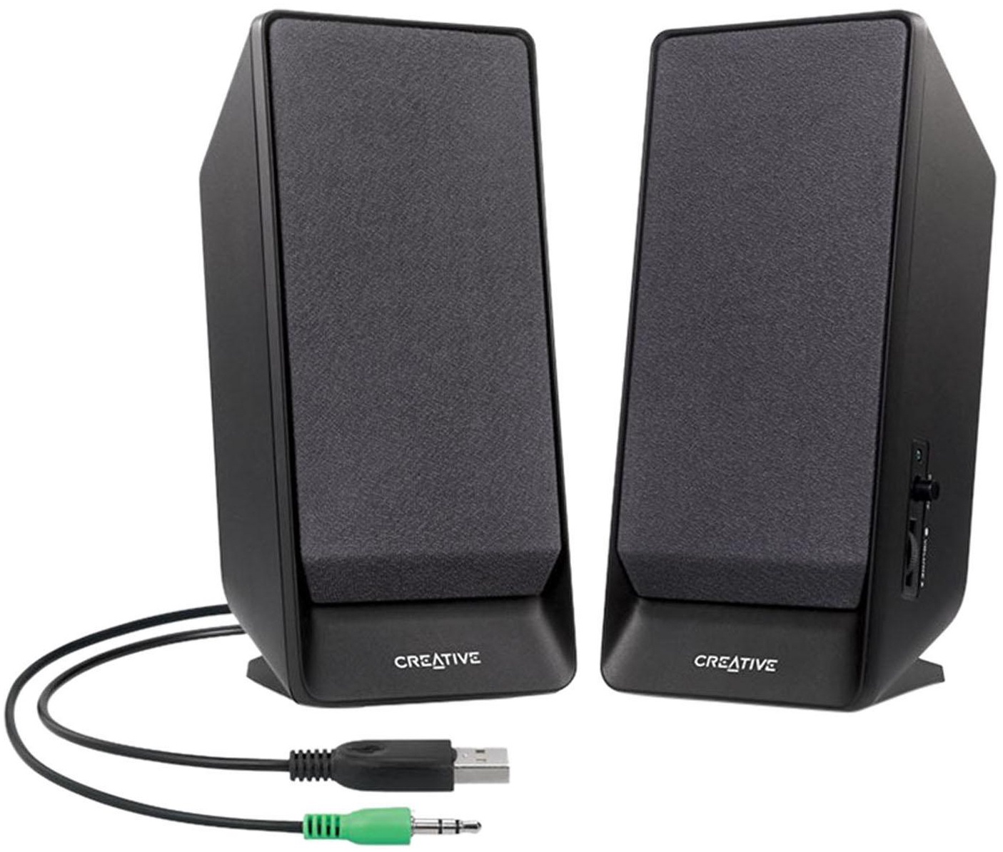 Компьютерная акустика Creative SBS A50 2.0, Black, USB, 51MF1675AA001, черный