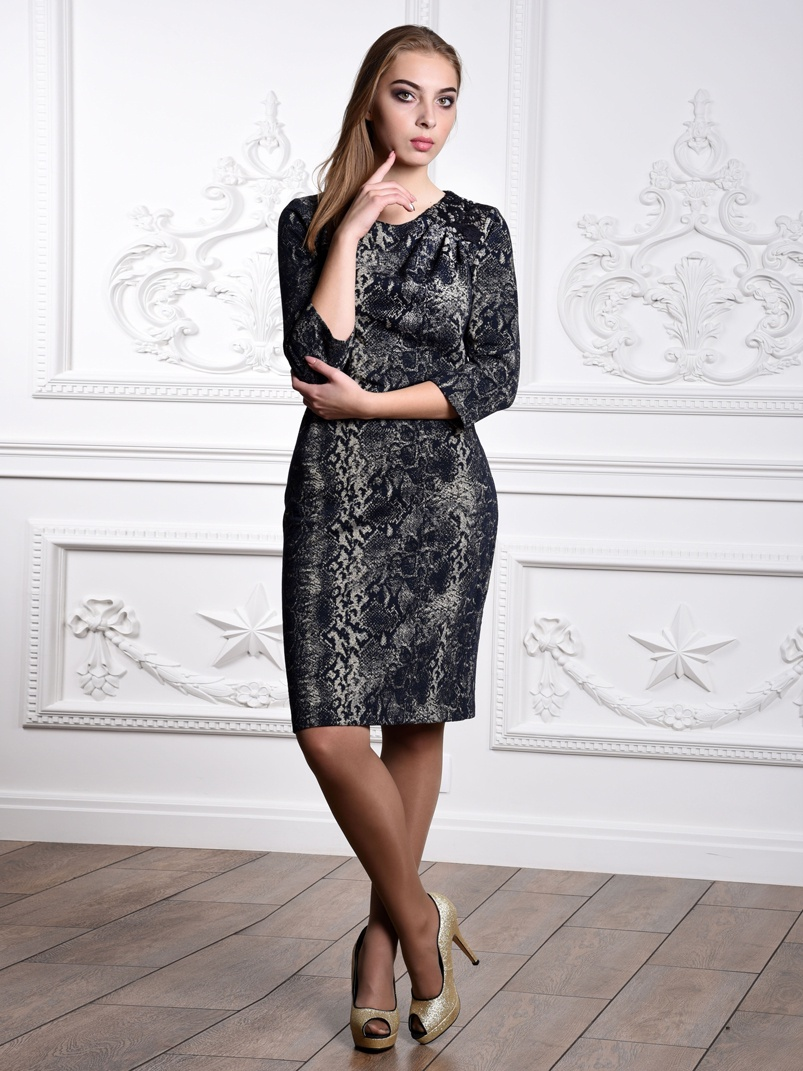Платье SHEGIDA асимметричное платье бандо 1001dress