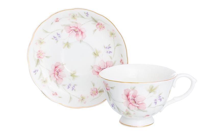 Чайная пара 2 предмета 250 мл Elan Gallery Диана чашка на ножке наборы для чаепития elan gallery чайный набор диана