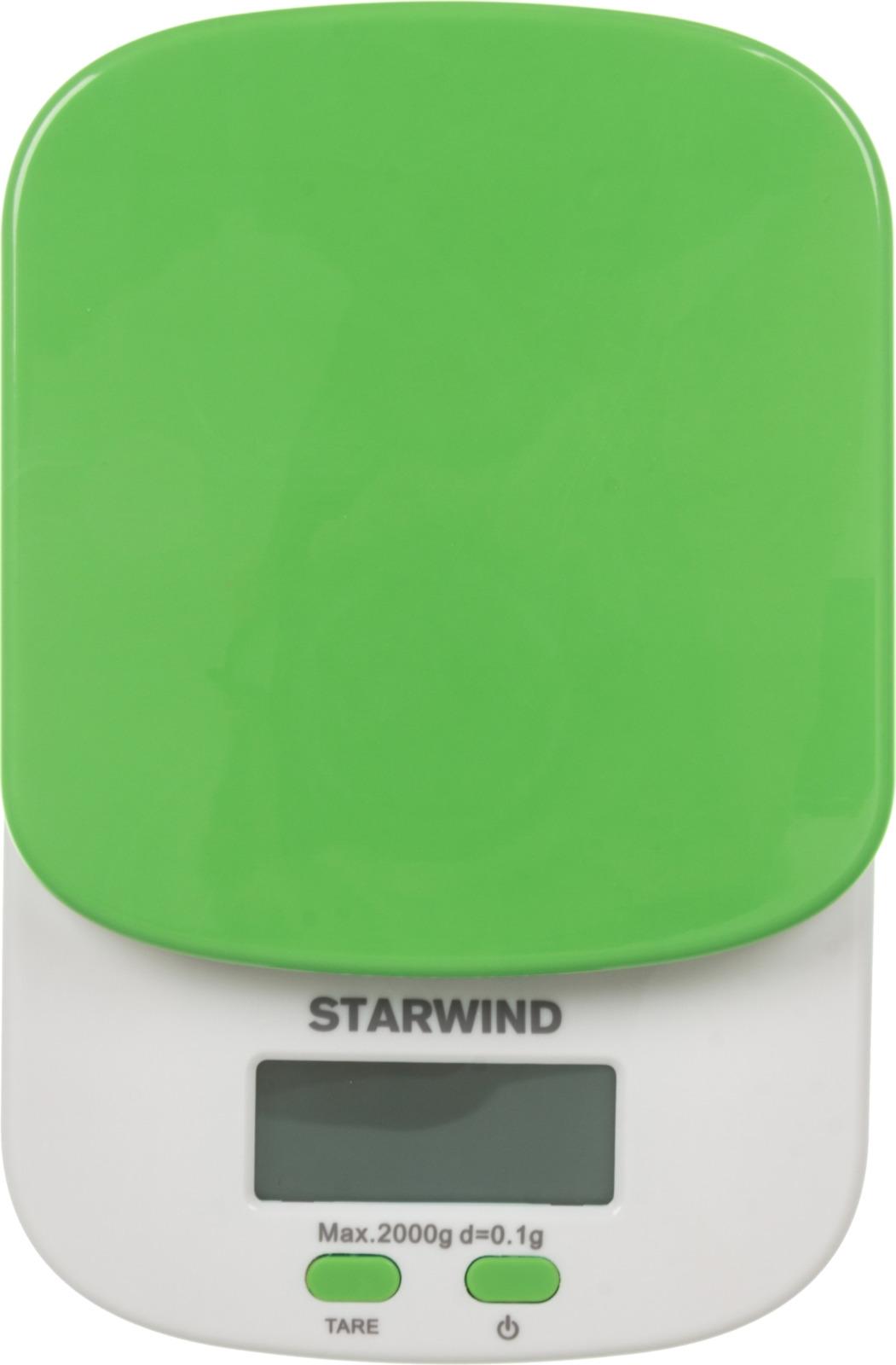 Starwind SSK2155, Green весы кухонные