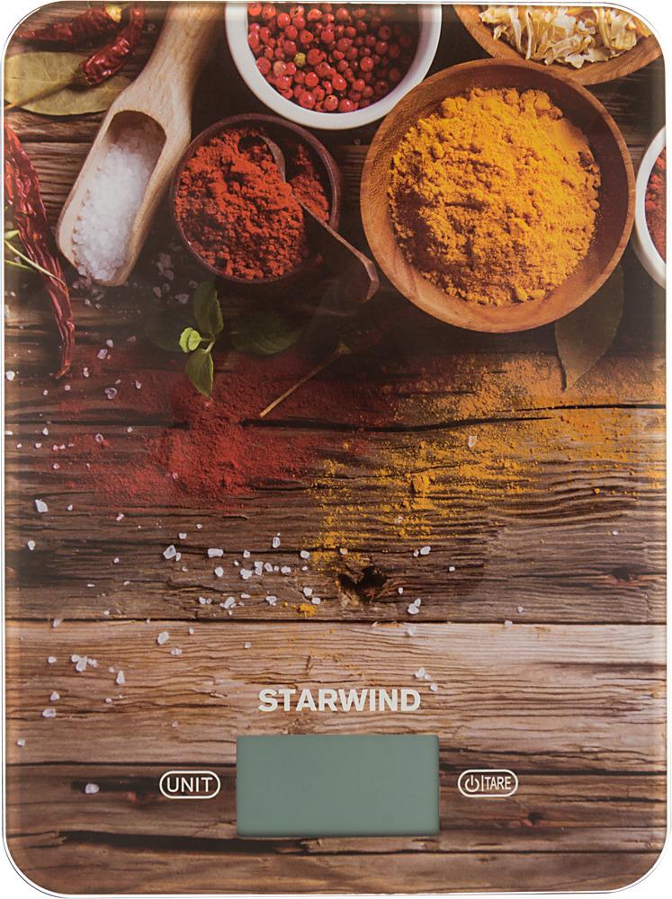 Кухонные весы Starwind SSK3358, Brown Yellow Red
