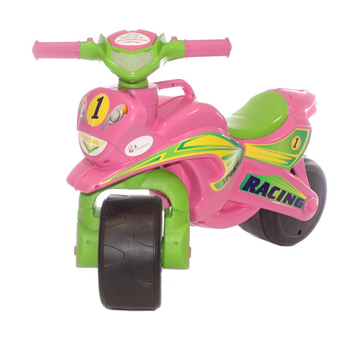 цена на Каталка Doloni Толокар, 0139/3 зеленый, розовый