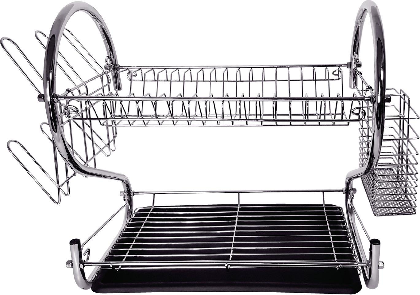 Сушилка для посуды Tatkraft Helga, двухъярусная, с поддоном ecoiffier игрушечный набор сушилка для посуды