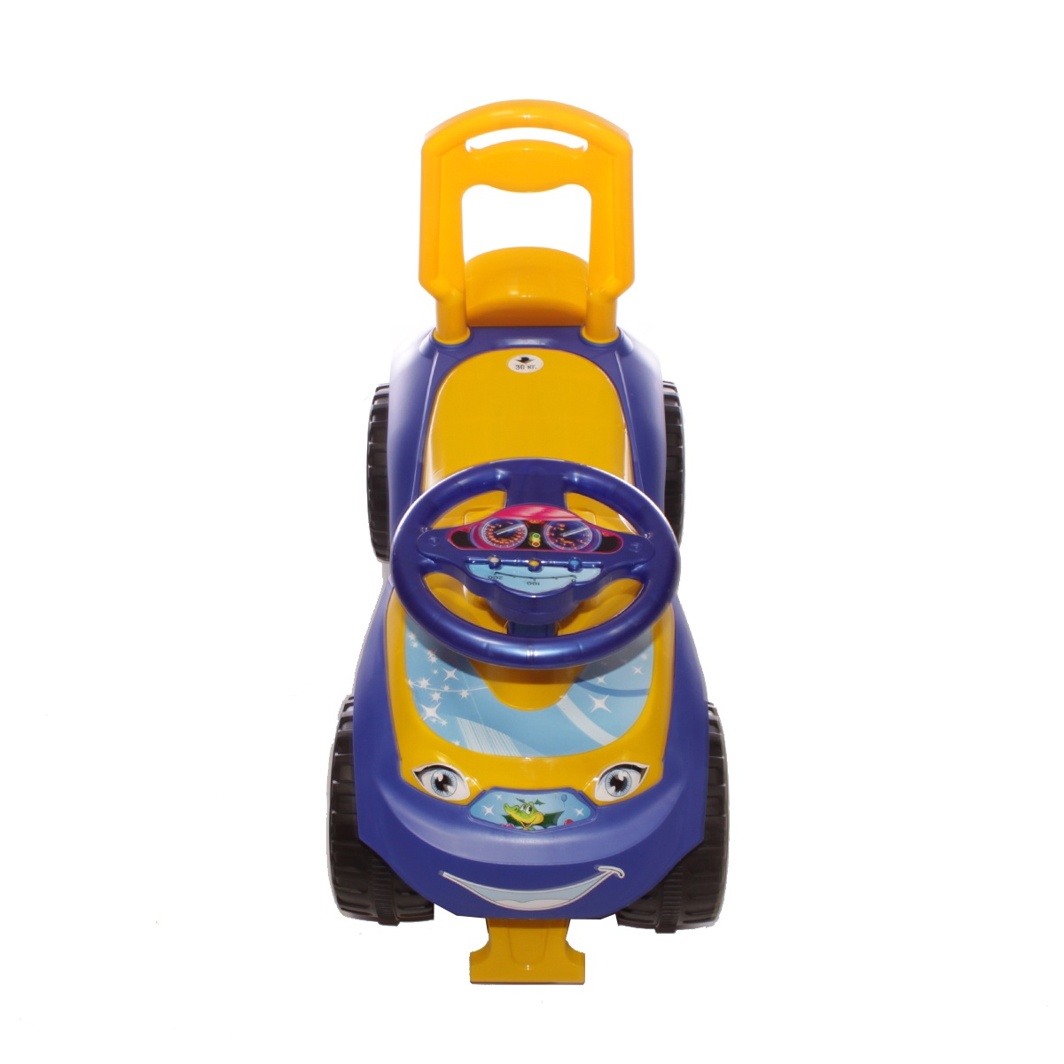 Каталка Doloni Толокар, 0119/04 синий, желтый детская горка doloni развлечение желтый синий