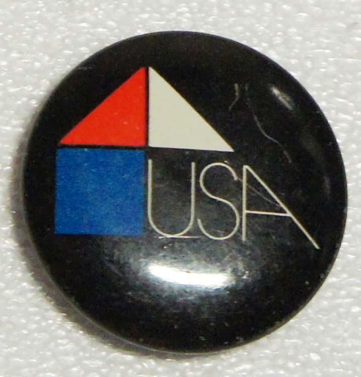 Значок USA. Металл, эмаль. СССР, 1970-е гг значок печоры металл эмаль ссср 1970 е гг
