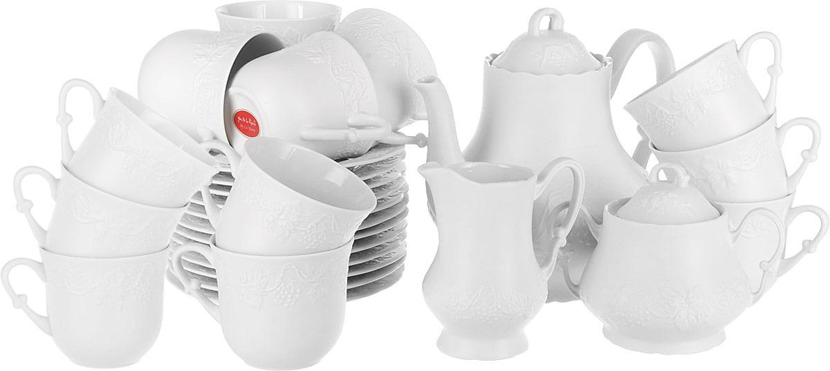 купить Сервиз чайный La Rose des Sables Blanc, 3109515, белый, 15 предметов онлайн