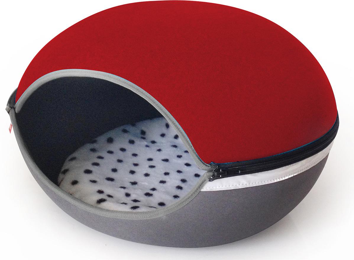 Лежак для кошек и собак UP! Арена Верона, красный, 52 х 30 см