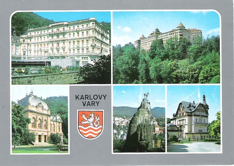 Фото - Почтовая открытка Karlovy Vary. Словакия, конец ХХ века почтовая открытка tenerife garachico испания конец хх века