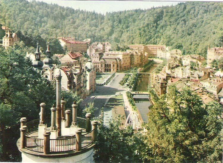 Почтовая открытка Karlovy Vary. Lazenska ctvrt. Словакия, конец ХХ века