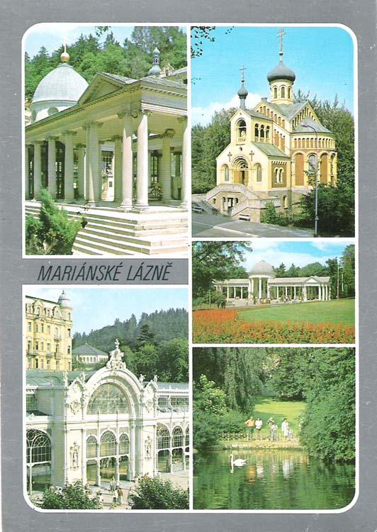 Почтовая открытка Marianske Lazne. Словакия, вторая половина ХХ века