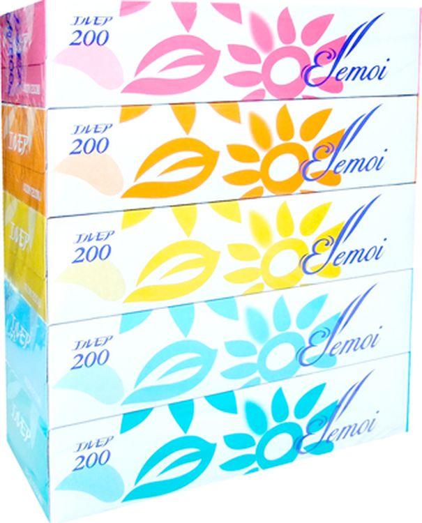 Салфетки бумажные Kami Shodji Ellemoi, 5 х 200 шт