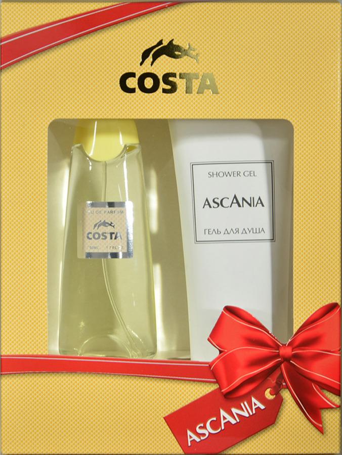 Парфюмированный набор Ascania Costa Туалетная вода, 50 мл + Гель для душа, 125