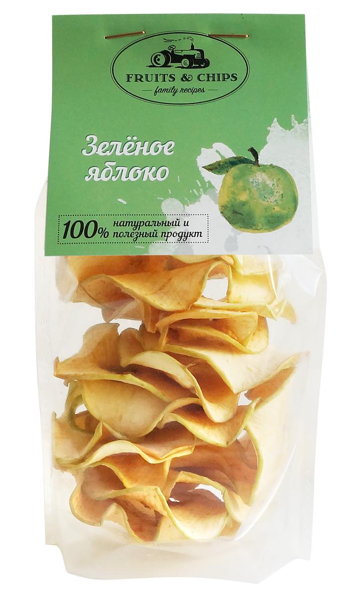 Яблочные чипсы Семушка Зеленое яблоко, 25 г русский продукт желе зеленое яблоко 35 шт по 50 г