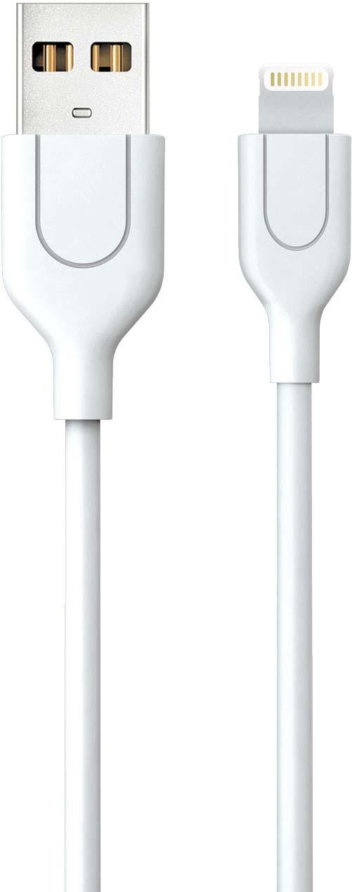 Дата-кабель Akai, CE-607W, USB 2.0-8-pin Apple Lightinng, белый, 1 м akai ce 443b black дата кабель usb 2 0 type c 1 м