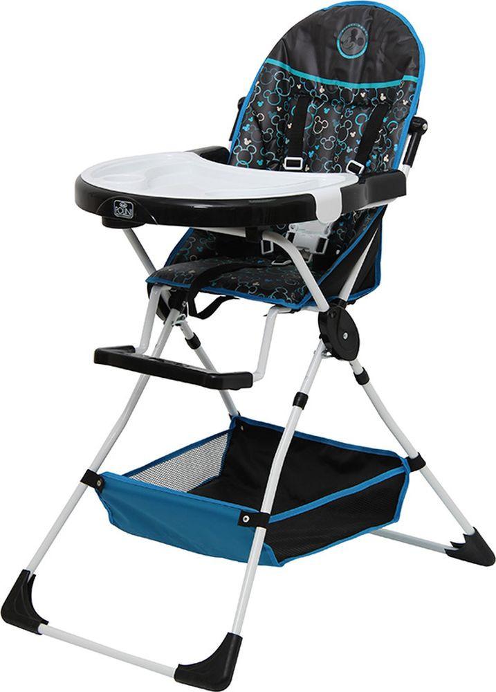 Стульчик для кормления Polini Kids Disney Baby 252 Микки Маус, 0001638-10, черный стульчик для кормления polini kids 252 единорог радуга 0001713 03 серый